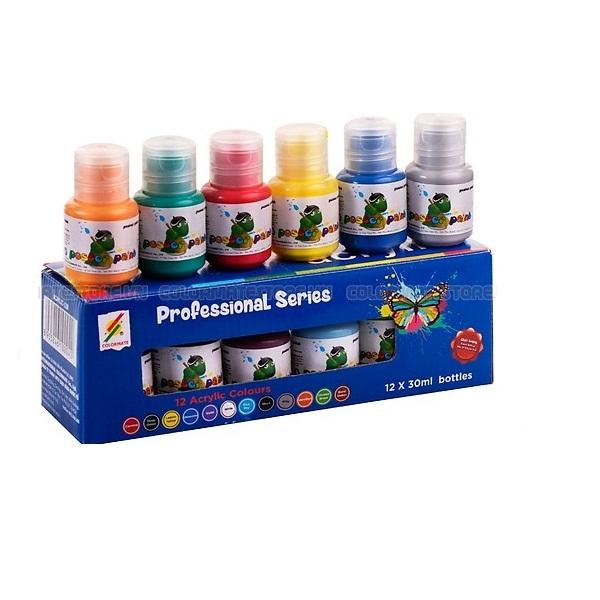 12 chai màu vẽ acrylic 30ml - ACRYLIC-12B