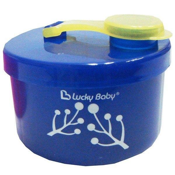 Hộp chia sữa Lucky Baby 3 ngăn màu xanh