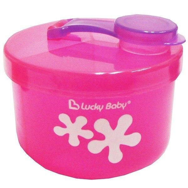 Hộp chia sữa Lucky Baby 3 ngăn màu hồng