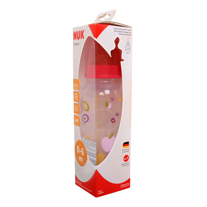 Bình sữa Nuk PP cổ hẹp ty silicone 240ml