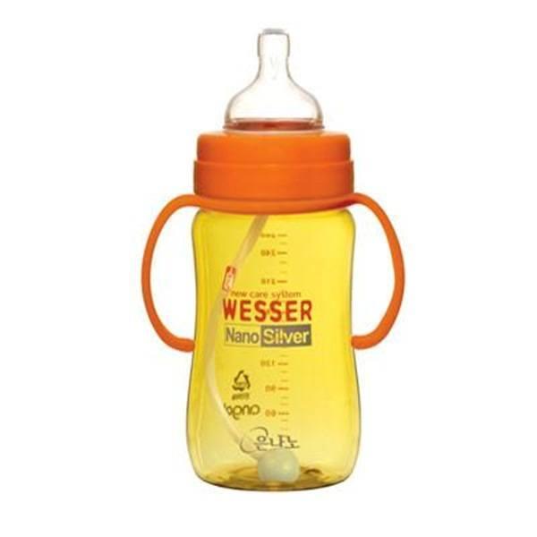 Bình sữa Wesser Nano Silver 260ml ống hút