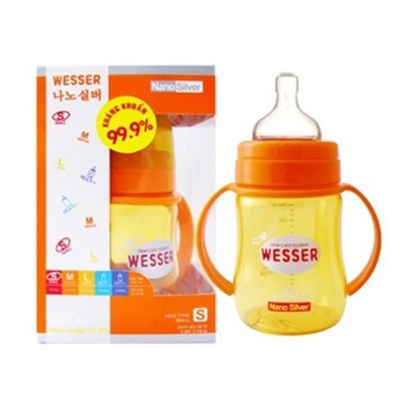 Bình sữa Wesser cổ rộng 180ml
