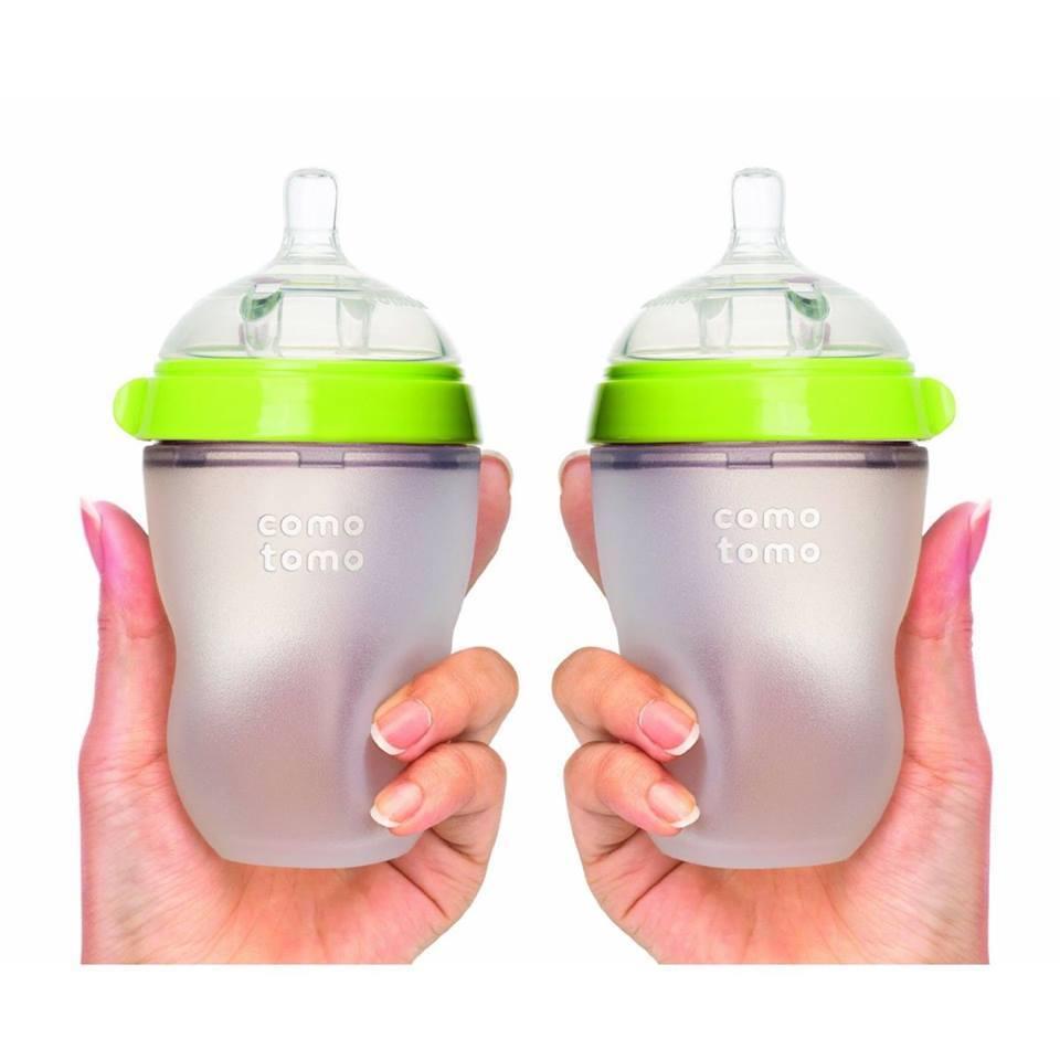 Bình sữa Comotomo 250ml set 2 xanh