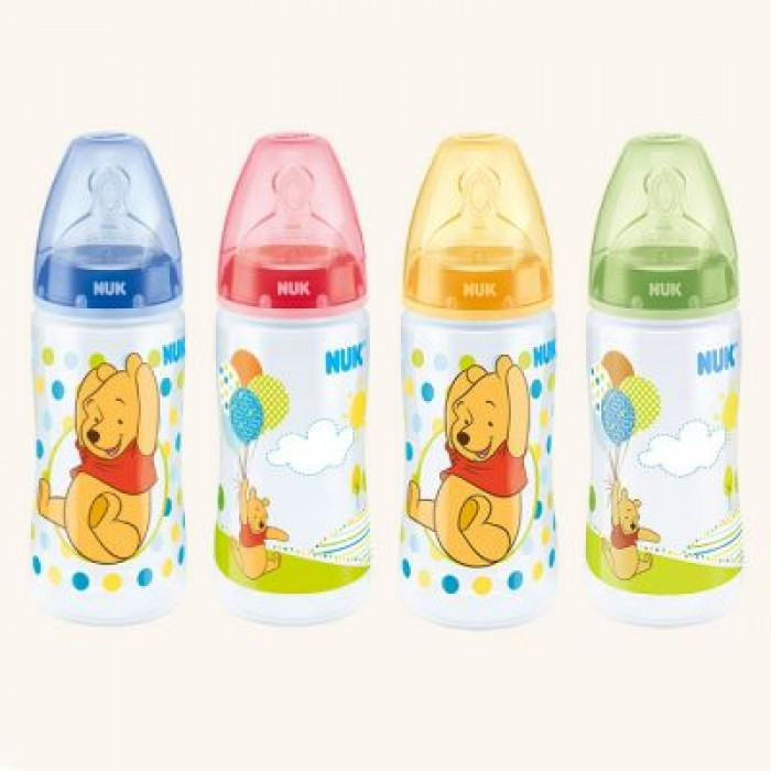 Bình sữa NUK PP Disney 300ml ty Silicone S1M
