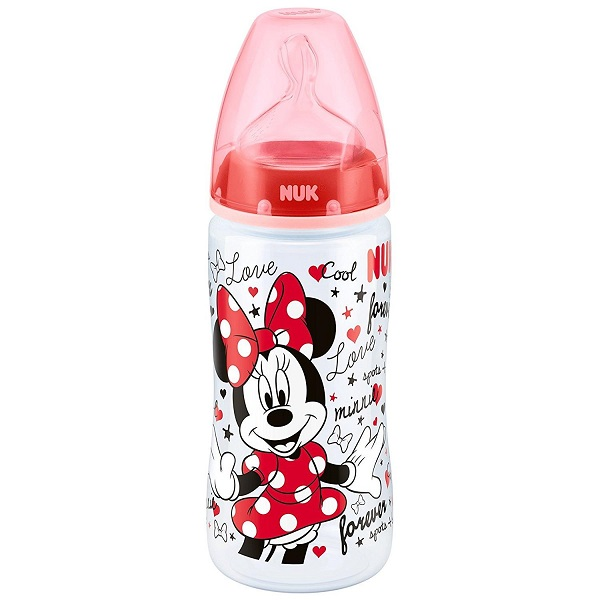 Bình sữa NUK PP Mickey 300ml ty Silicone S2M