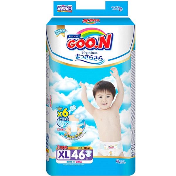 Bỉm Goon Premium dán XL46, tích tem đổi quà
