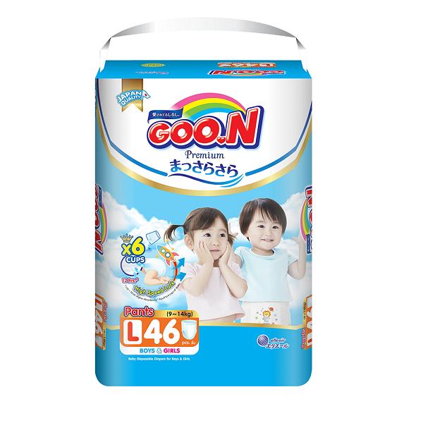 Bỉm Goon Premium quần L46, tích tem đổi quà