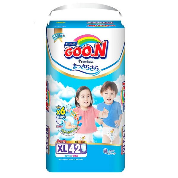 Bỉm Goon Premium quần XL42, tích tem đổi quà
