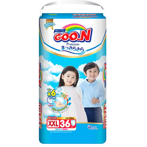 Bỉm Goon Premium quần XXL36, tích tem đổi quà