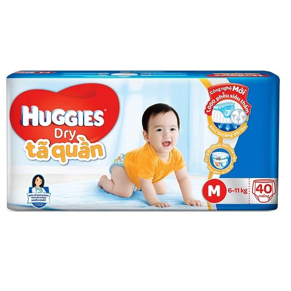 Bỉm Huggies quần lớn M40