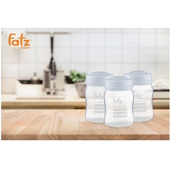 Bộ 3 bình trữ sữa cổ rộng 150ml Fatzbaby FB0120NX xanh