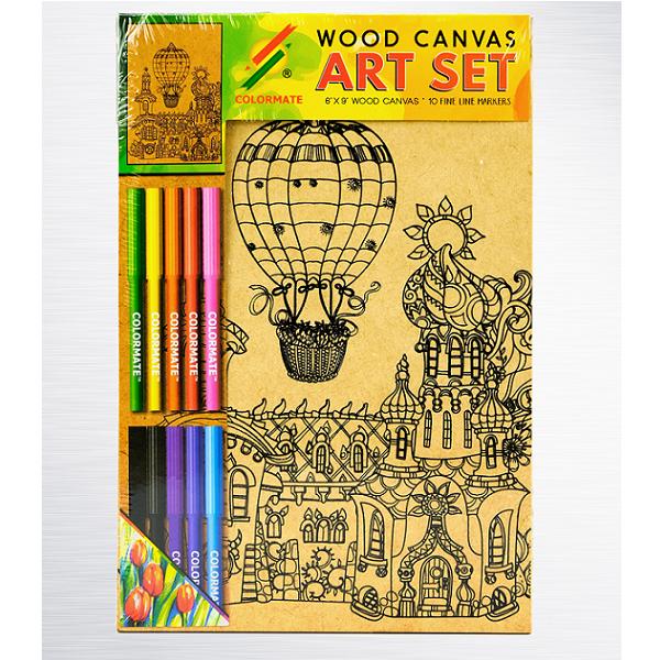 Canvas gỗ khinh khí cầu WOOD-CANVAS1