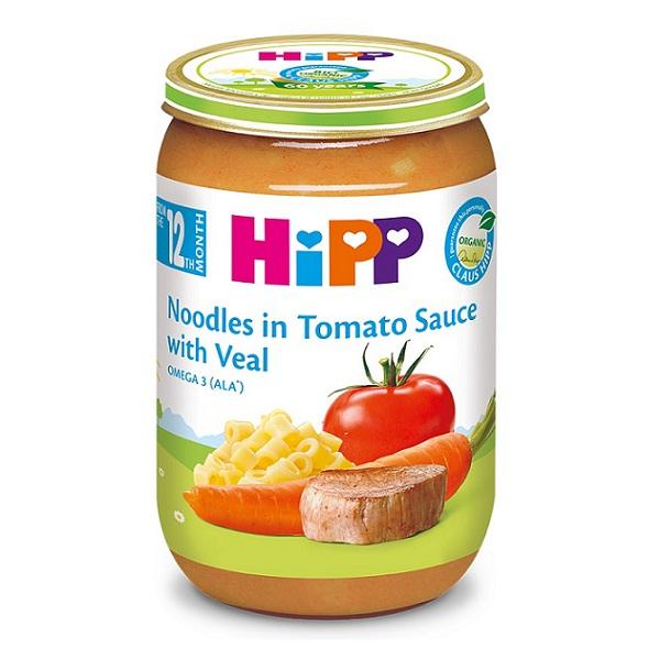 DD Hipp 220g thịt bê, mì sợi, cà chua