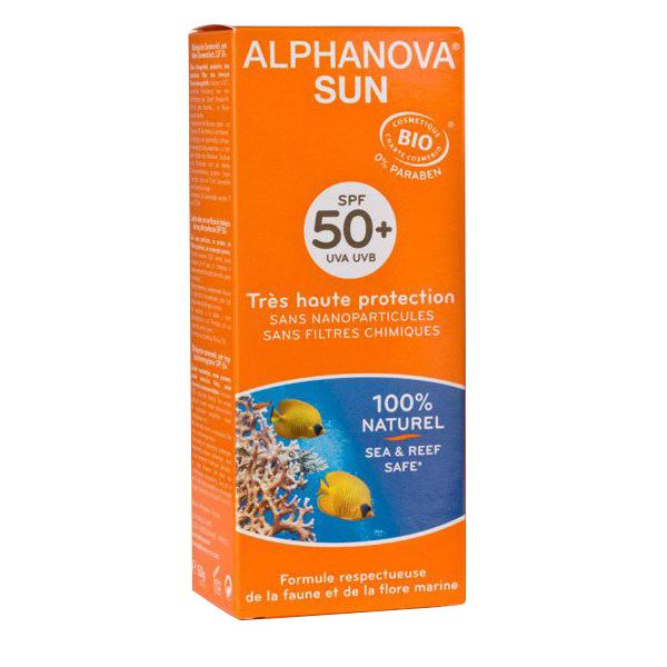 Kem chống nắng hữu cơ Spf50+ Alphanova Sun 50g