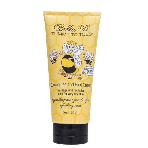 Kem massage chân  chống phù nề cho mẹ bầu organic Bella B 170g/tube