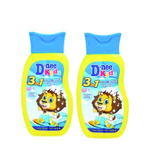 Tắm gội xả Dnee Kids 3 trong 1 vàng 200ml
