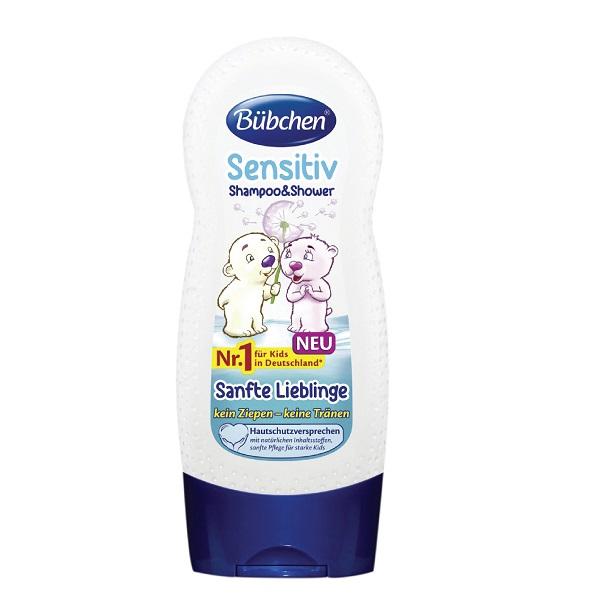 Sữa tắm gội Bubchen 230ml dành cho da nhạy cảm