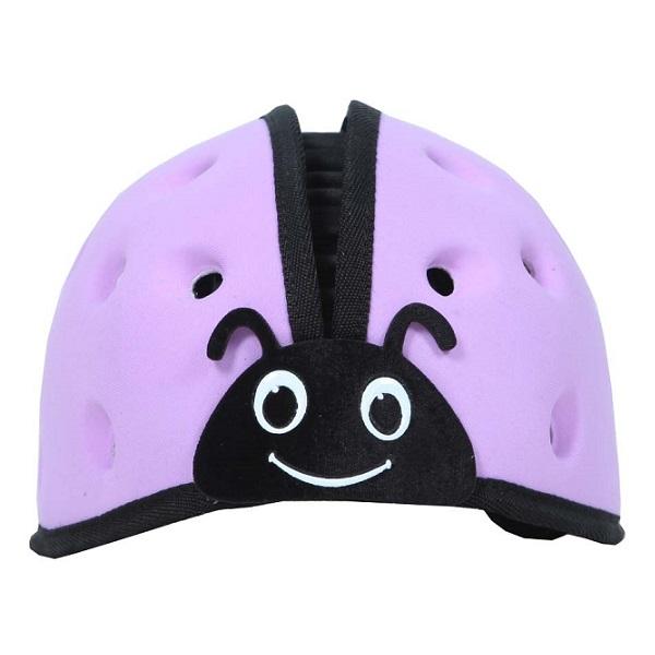 Nón mũ bảo hiểm cho bé Mumguard tím nhạt