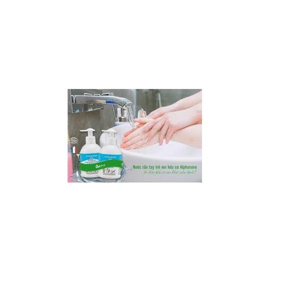 Nước rửa tay trẻ em hữu cơ Alphanova 300ml