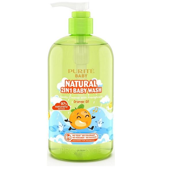 Sữa tắm gội thiên nhiên tinh dầu cam Purity baby 500ml