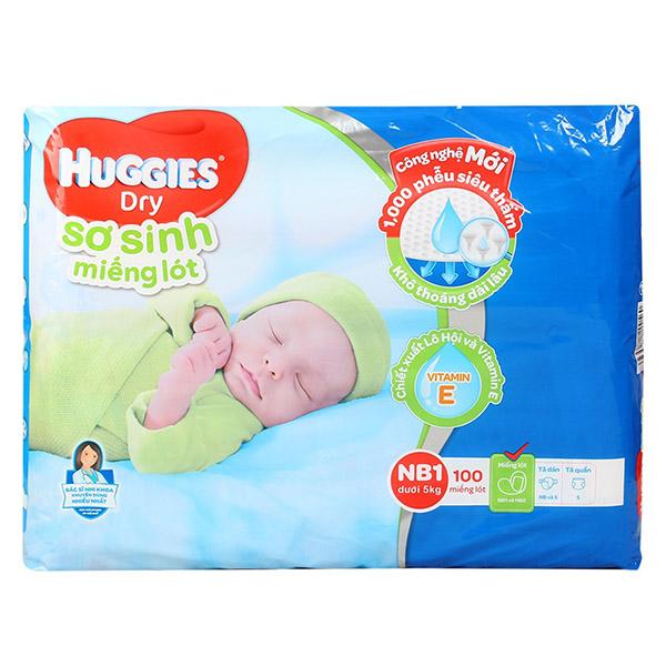 Tã Huggies Newborn 1 100 miếng