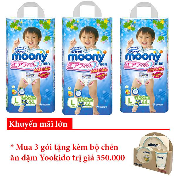 Bỉm quần Moony L44 boy