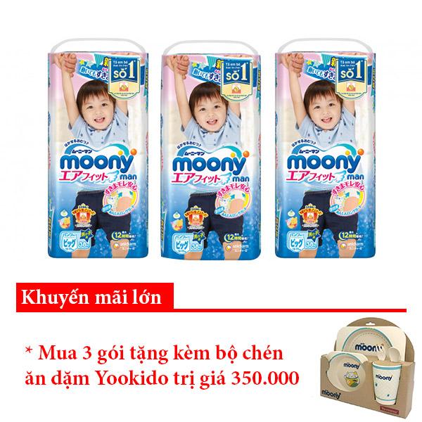 Bỉm quần Moony XL38 boy