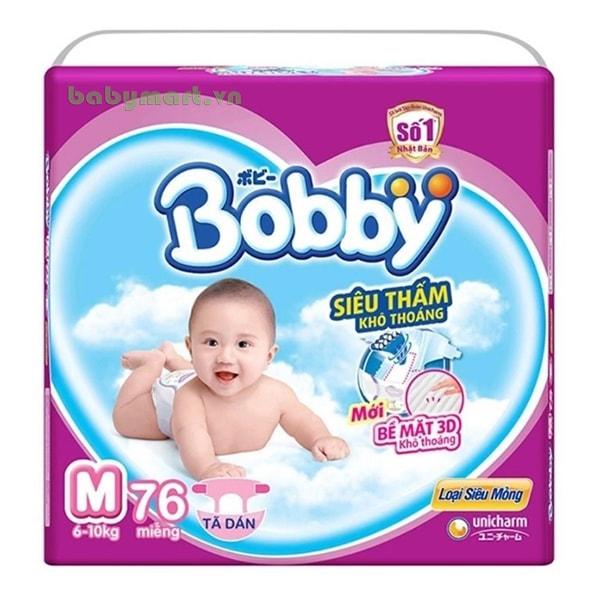 Bỉm Bobby Fresh dán siêu mỏng M76