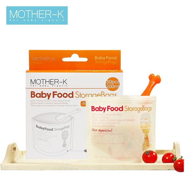 Túi đựng thực phẩm Mother-K 200ml (30c)