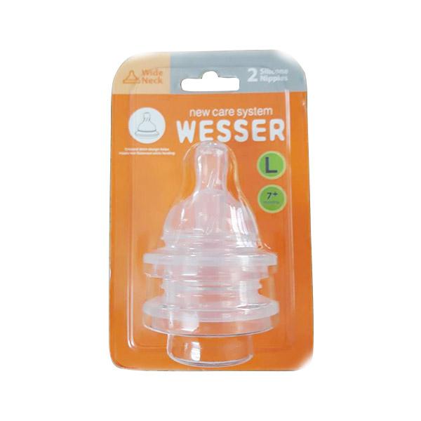 Ty bình sữa Wesser cổ rộng size L, vĩ 2c