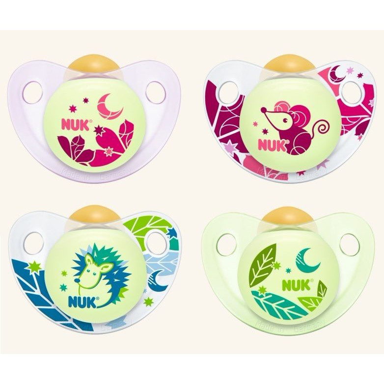 Ty ngậm Nuk silicone đôi Night day 6 đến 18th
