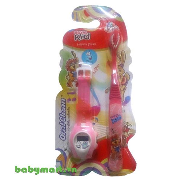 Bàn chải đánh răng Oral clean Royal kid 3 tuổi tặng kèm đồng hồ