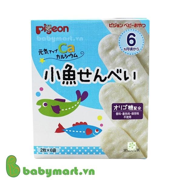 Bánh gạo Pigeon bổ sung canxi cho bé
