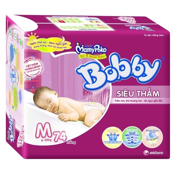 Bỉm Bobby Fresh dán siêu thấm M74