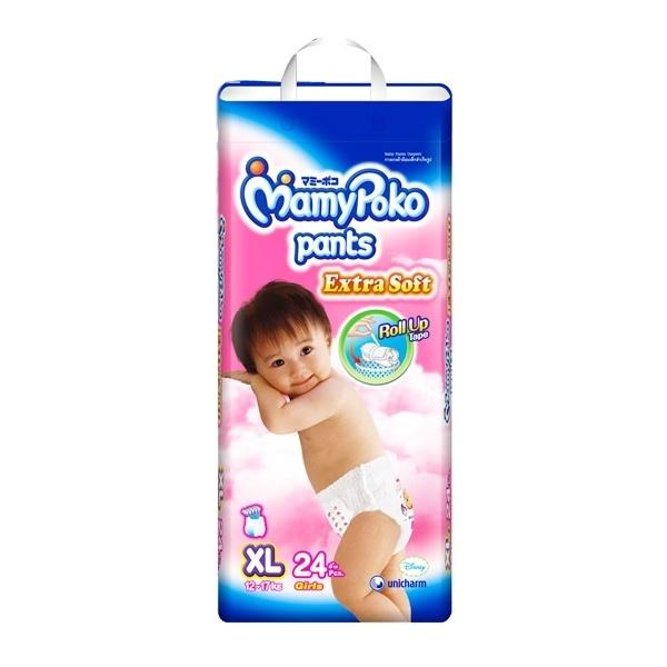 Bỉm Mamy Poko quần XL24 bé gái
