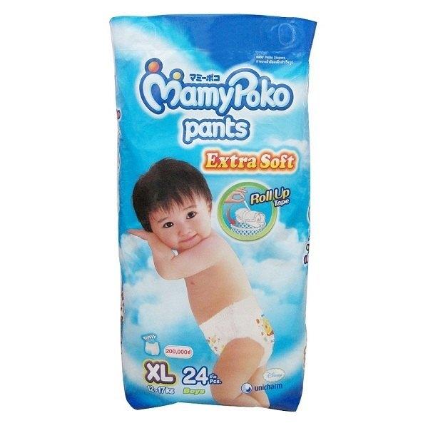 Bỉm Mamy Poko quần XL24 bé trai