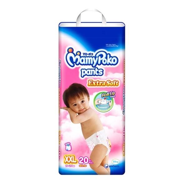 Bỉm Mamy Poko quần XXL20 bé gái