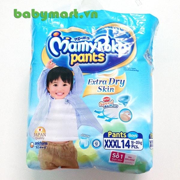 Bỉm Mamy Poko quần XXXL14 bé trai