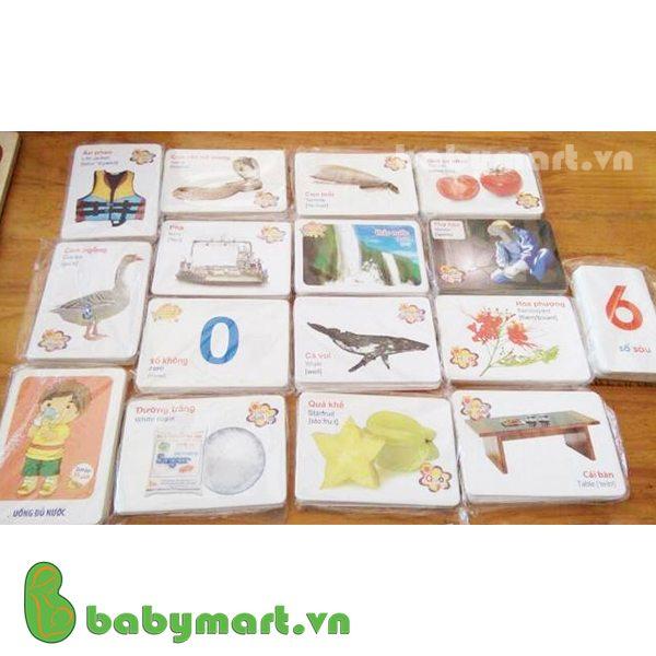 Bộ thẻ song ngữ Anh Việt 16 chủ đề cho bé
