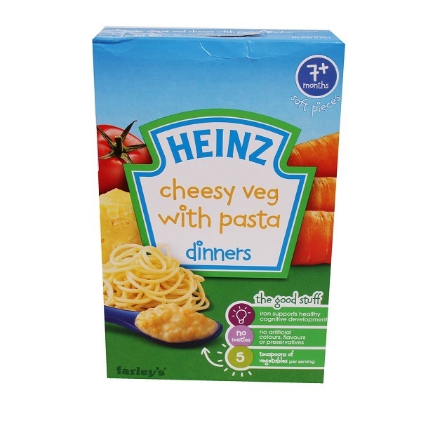 Bột Heinz mặn 7m+ Mỳ Ý, rau củ, phô mai