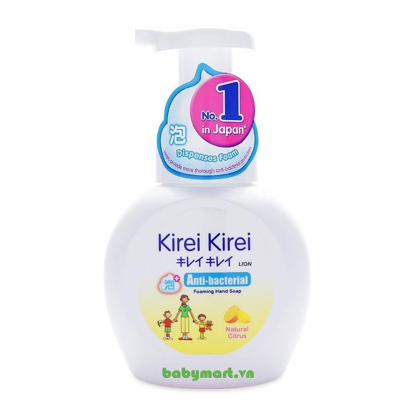 Bọt rửa tay Kirei Kirei chanh 250ml