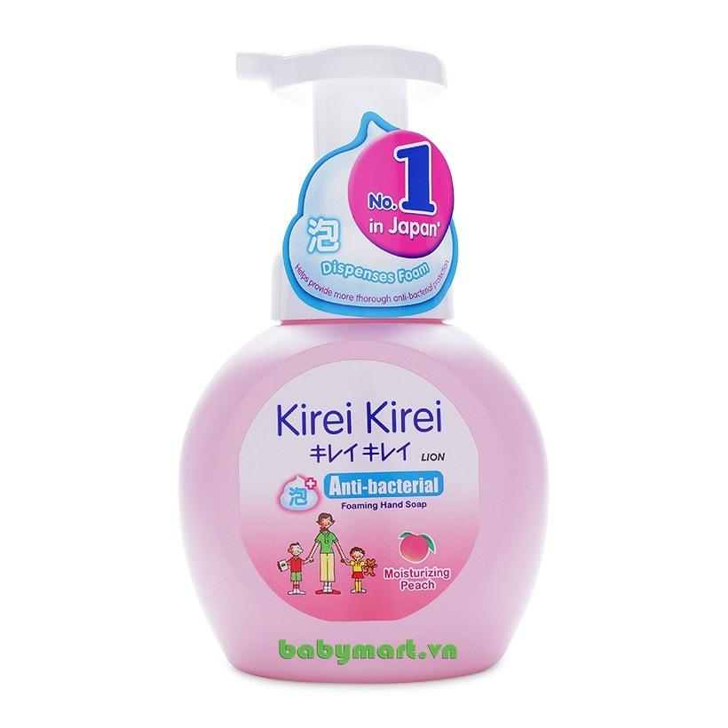 Bọt rửa tay Kirei Kirei đào 250ml