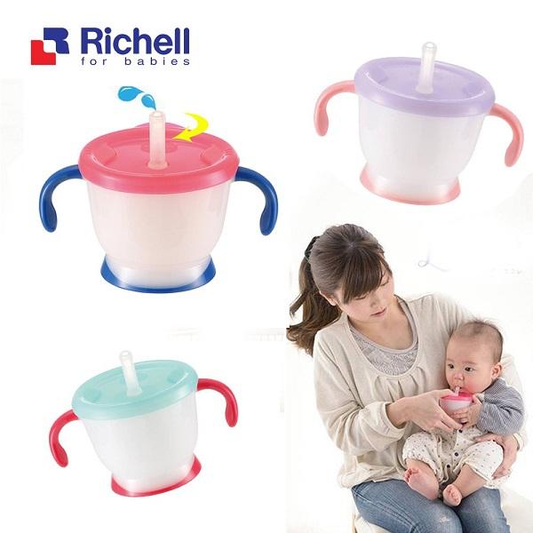 Cốc tập uống 3 giai đoạn Richell xanh RC41011