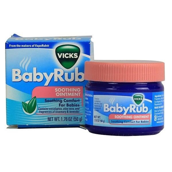 Dầu bôi ấm ngực giảm ho Baby Rub