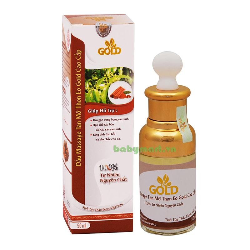 Dầu Massage Tan mỡ eo thon Gold cao cấp 50ml