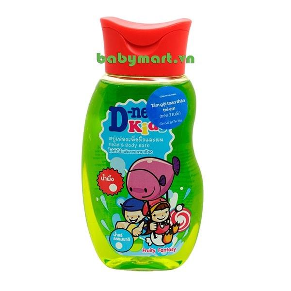 Dầu tắm gội trẻ em Kids Dnee 200ml cam