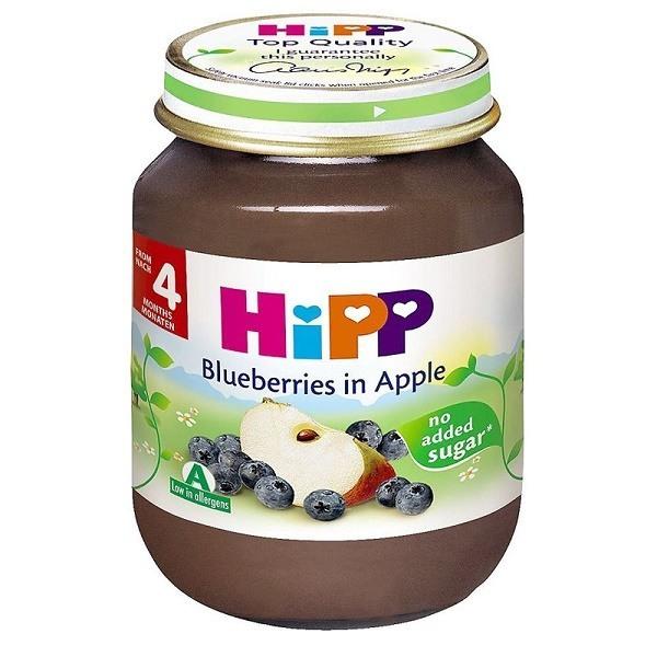 Dinh dưỡng đóng lọ Hipp - Dâu tím, táo tây 125g