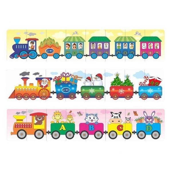 Đồ chơi gỗ - Bộ 3 xe lửa 68242