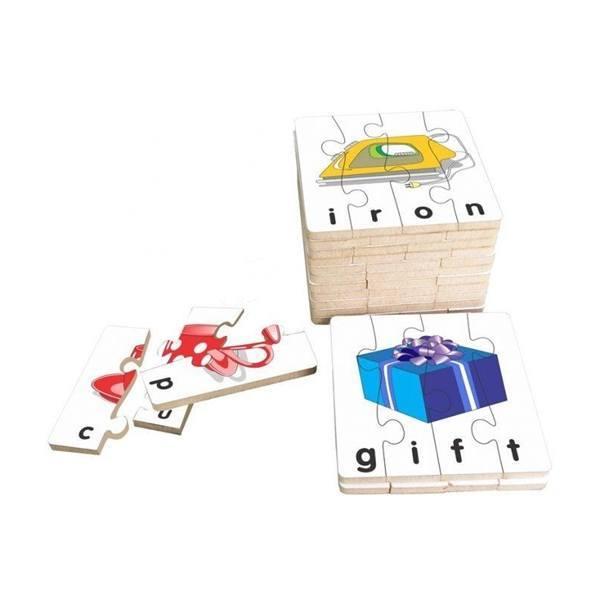Đồ chơi gỗ - Bộ ghép hình học chữ tiếng Anh 1