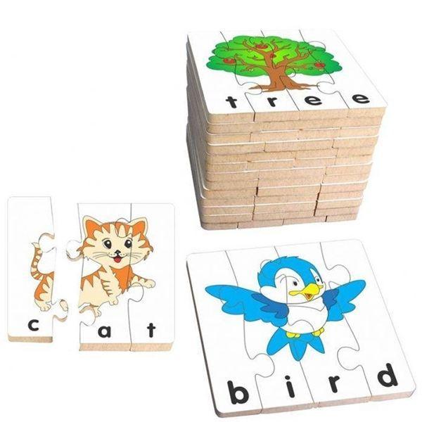 Đồ chơi gỗ - Bộ ghép hình học chữ tiếng Anh 2